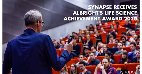 SYNAPSE RECEIVES ALBRIGHT'S LIFE SCIENCE ACHIEVEMENT AWARD 2020